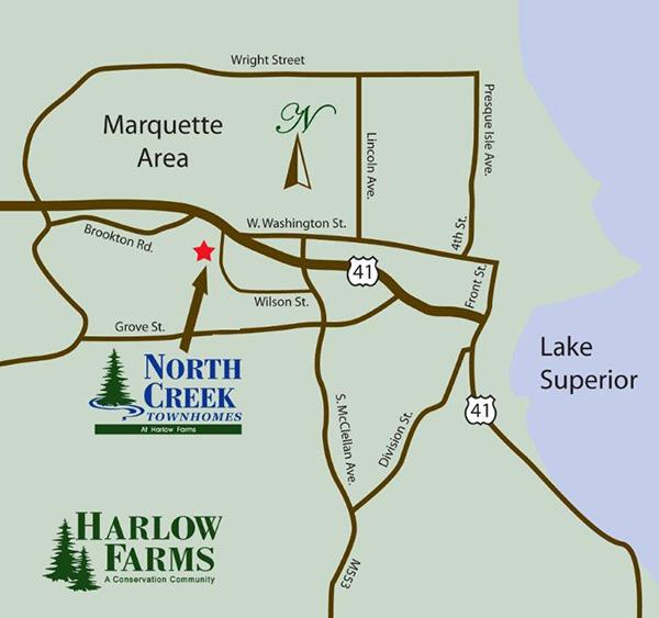 Location Map in Marquette